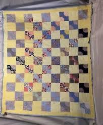 Vintage Handmade Bow tie Feed Sack Patchwork Quilt 50 Blocks ... & Image is loading Vintage-Handmade-Bow-tie-Feed-Sack-Patchwork-Quilt- Adamdwight.com