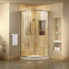 bathroom corner shower. Delighful Bathroom DreamLine Prime ChromeWhite Floor Round 2Piece Corner Shower Kit Actual Intended Bathroom A