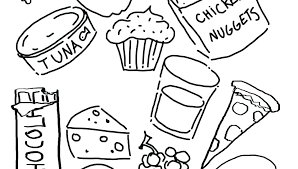 Healthy Food Coloring Pages Printable Food Coloring For Kids
