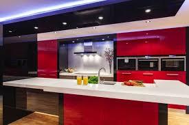 Cuisine En Rouge Et Blanc Cuisine Moderne Rouge Et Blanc 5 Cuisines