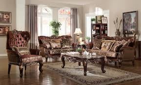 Tufted Living Room Set Meridian Furniture Lyon 685 3pc Classic Luxury Fabric Crystal
