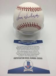 Sonny Siebert Autographed Signed Autograph Omlb Official Baseball Beckett  Beckett