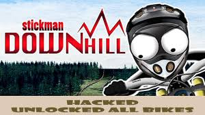 How To Cheats Stickman Downhill Unlocked All Bikes Youtube
