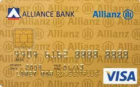 Also known as a cash rebate, this type of credit card intends to save you money by giving you a certain percentage of your expenditure back. Alliance Bank Allianz Insurance Visa Gold Cash Back On Premium