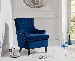 blue velvet accent chair. Blue Velvet Accent Chair L