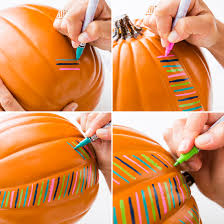 Small Pumpkin Painting Decorate Your Pumpkins With Paint Pens For Halloween Halloween