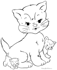 Small Picture Excellent Design Cat Coloring Sheet And Kitten Pages 224