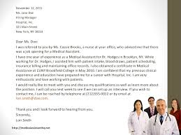 Medical Assistant Cover Letter Samples Make Photo Gallery Cover