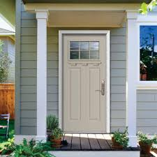 jeld wen front doorsJELDWEN 37438 in x 8175 in 6 Lite Craftsman White Painted