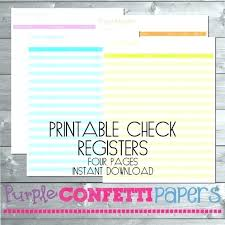Printable Check Register Book Free Printable Checkbook Register Sheets Blank Check Bank Ledger