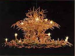 large two tier white tail chandelier