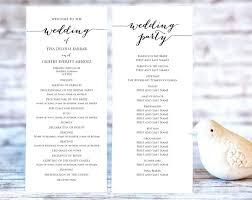 Wedding Program Templates Ceremony Template Elegant Free Word