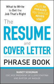 The Resume And Cover Letter Phrase Book Book By Nancy Schuman