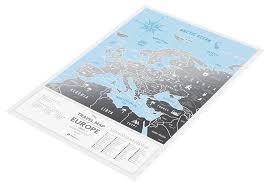 Географическая <b>карта 1DEA.me Travel</b> Map Silver Europe