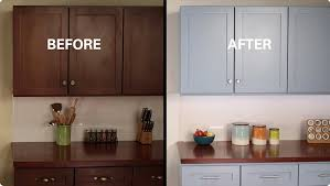 Refinish Kitchen Cabinets With Paint DIY Project Before After