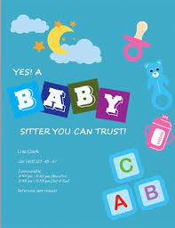 Make Your Own Flyers Online Free Free Babysitting Flyers Templates Ideas And Samples Sample Text