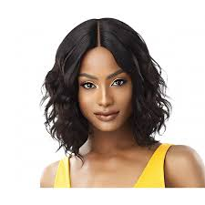 outre unprocessed human hair the daily wig lace part wig curly 16