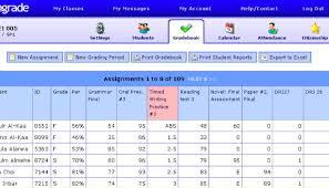 Teacher Gradebook Online Engrade An Open Source Online Gradebook