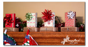 Gift Wrap Stocking Hangers Tutorial via Sugarbee Crafts
