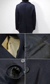 br11554 col 01 nav pea coat naval clothing factory the vertical pocket that the pocket served as a hand warm the sacking uses a corduroy