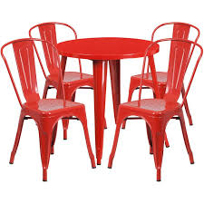 outdoor stack chairs. TBD5005 Metal In-Outdoor Round Table Set With 4 Stack Chairs 30 8 Colors Outdoor