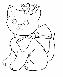 Kitten Coloring Pages Animal Coloring Pages Preschool Coloring