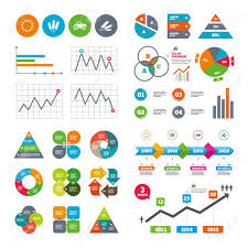 Business Data Pie Charts Graphs Agricultural Icons Wheat Corn