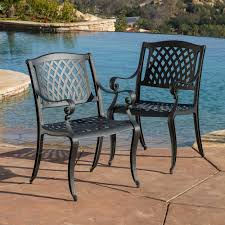 Outdoor Cayman Cast Aluminum Outdoor Chair Set of 2 by Christopher Knight Home 4e098d8e c096 41bd b8ac 52b31b52c66f