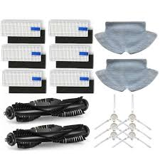 <b>Main Brush Roll</b> Brush <b>Side</b> Brush Mop Cloth HEPA filter for Qihoo ...