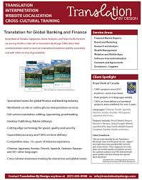 translation by design flyers brochures translation by design financial translation services