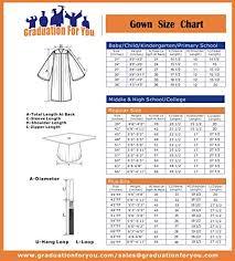 Choir Robe Size Chart Graduationforyou Unisex Crescendo Choir Robe Cuff Sleeves