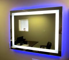 Add Lights To A Mirror Add Perimeter Color Lighting Blue Large Mirrors