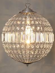 image of modern crystal ball chandelier
