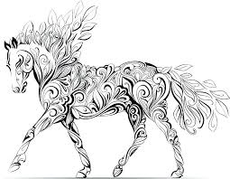 Printable Carousel Horses Coloring Pages Carousel Horse Coloring