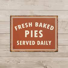 Amazoncom Barnyard Designs Fresh Baked Pies Served Daily Retro