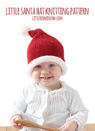 Santa Hat Pattern Inspiration Little Santa Hat Knitting Pattern Little Red Window