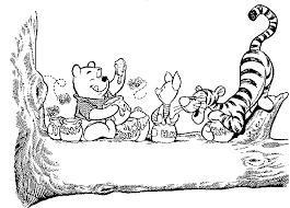 Disegni Da Colorare Winnie The Pooh E I Suoi Amici Sullalbero