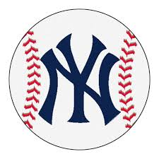 fanmats mlb new york yankees white 2 ft x 2 ft round area rug