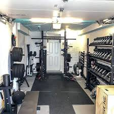 one car garage gym ideas with rogue workout equipment diy best
