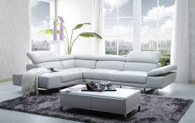 l shape furniture. Furniture : Attractive White Leather L Shape Sectional Sofa For Modern Living Room Design Plus Crhome Base Legs And Rectangular Coffee Table Has A Y