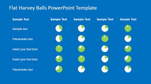 Harvey Balls Chart Template Flat Harvey Ball Powerpoint Template