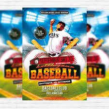 Free Baseball Flyer Template Baseball Premium Flyer Template