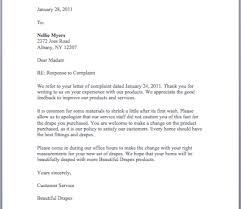 Letter Of Complain Customer Complaint Response Letter Nice Letters Samples Of Response