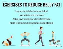exercises to reduce belly fat femina in