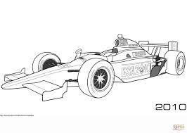 Dale Coyne Aan Het Racen In Een Bsa 2010 Indy Auto Kleurplaat