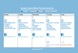 Monday To Friday Schedule How To Create A Social Media Posting Schedule Constant Contact Blogs