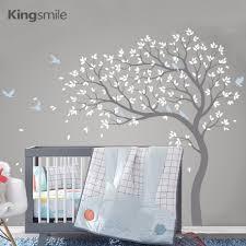Large <b>Tree</b> Branches Wall Sticker <b>Birds</b> Nursery Decor Removable ...