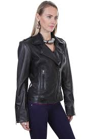 a scully las leather jacket motorcycle with zippers
