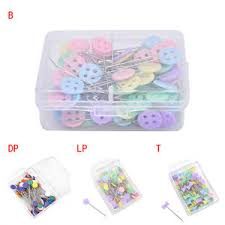 100X Patchwork Pins Flower Button Head Pins Quilting Tool Sewing ... & Image is loading 100X-Patchwork-Pins-Flower-Button-Head-Pins-Quilting- Adamdwight.com