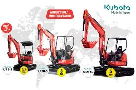 Mini Excavator Size Chart 28hp 2865 Mm Kubota U30 Mini Excavator Model U30 6 Id